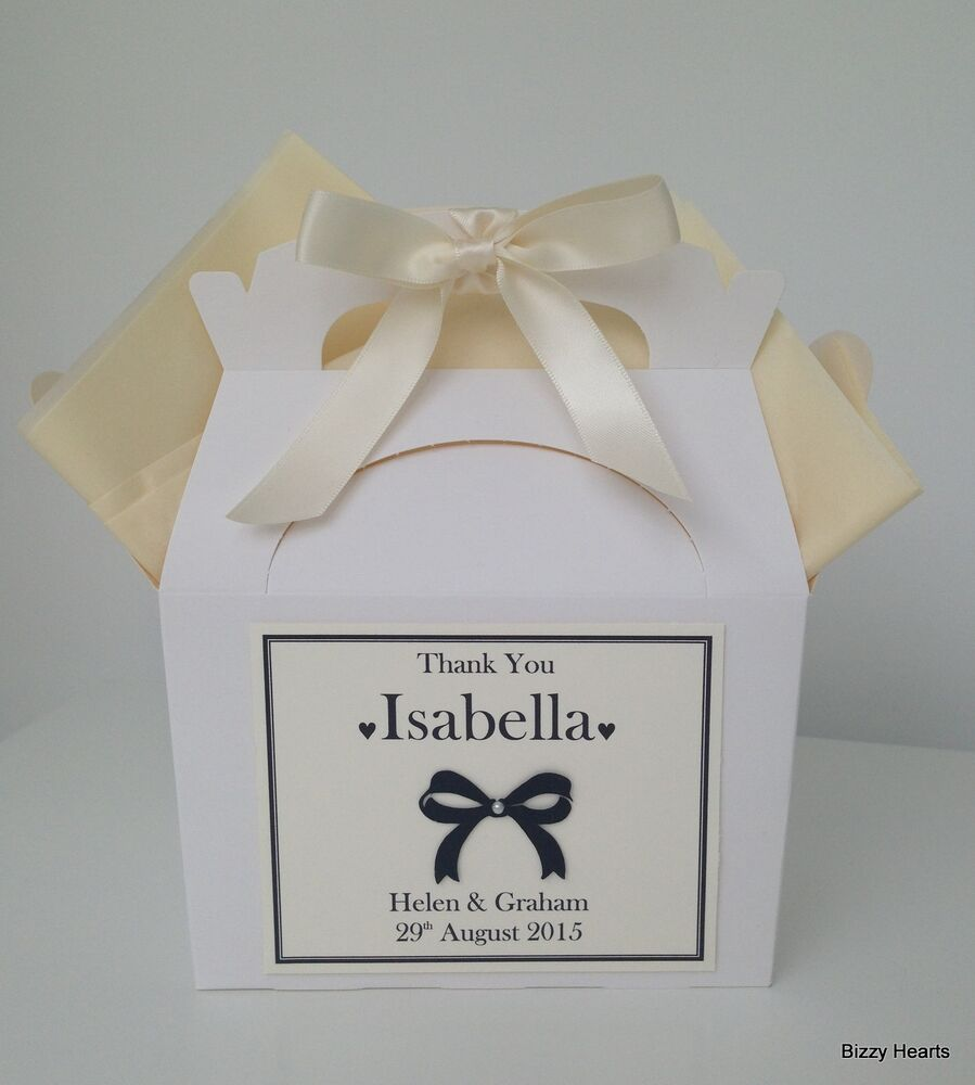 Personalised Childrens Wedding Gift Bags : ... VINTAGE STYLE BOW Activity Box Bag Wedding Favour Children Gift eBay