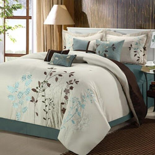 Bliss Garden 8 Piece Beige Oversized Comforter Set Ebay