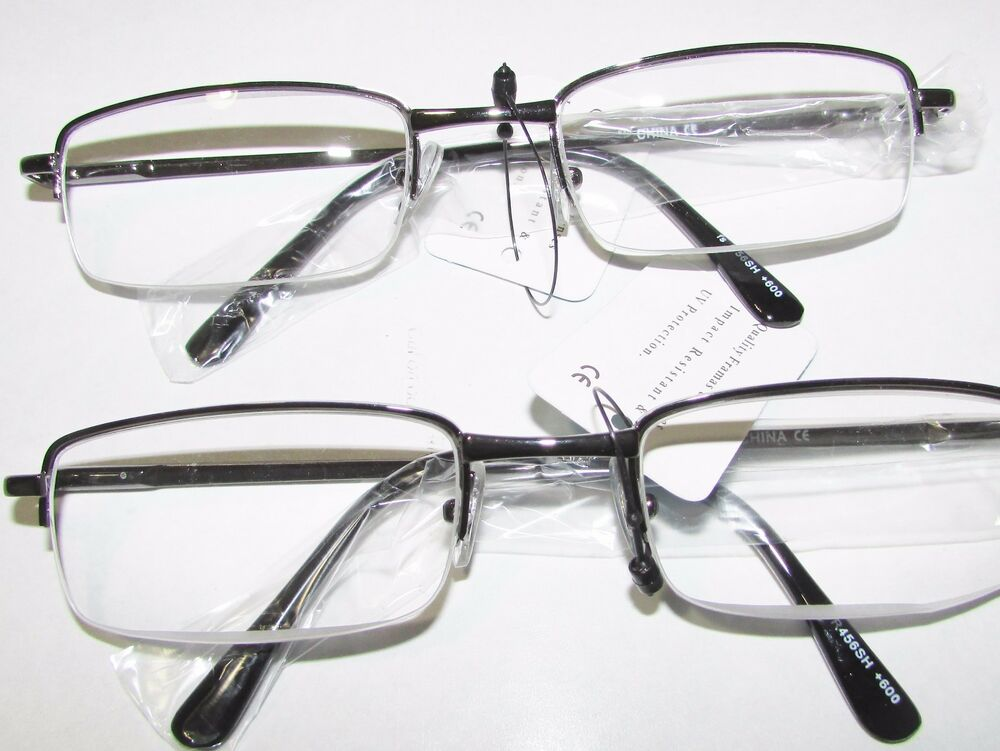2 reading glasses premium quality semi select power 4