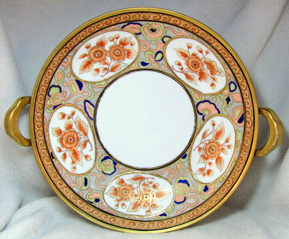 Hand Painted Nippon Bowl With Handles
