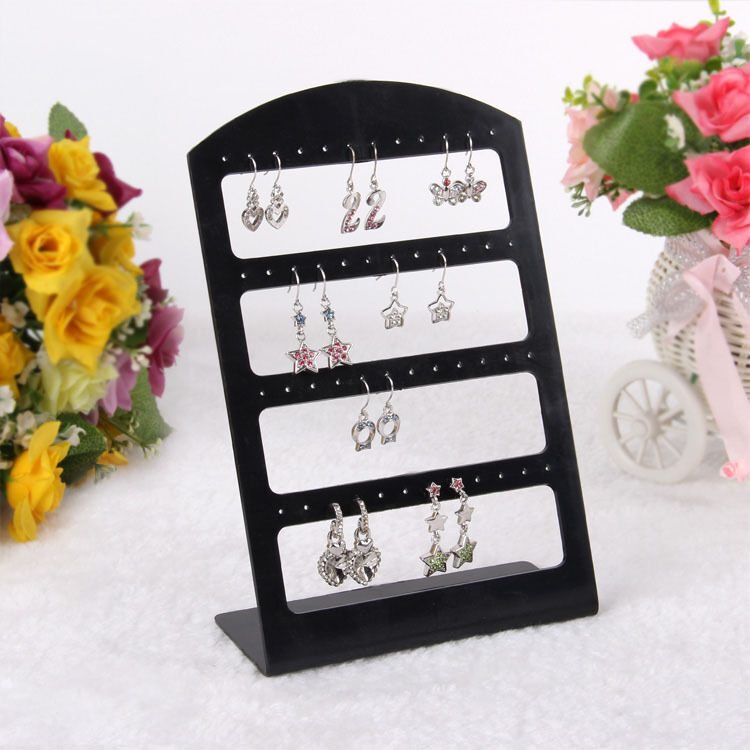 Exhibition Stand Organizer : Pair earrings stud display stand holder organizer