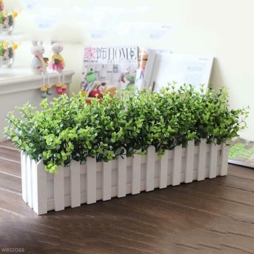10x new vivid artifical plant eucalyptus home office for Outdoor plants decoration ideas