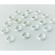 Sterling Silver Split Jump Rings 4mm Double Looped 10, 20, 50 or 100, USA Seller