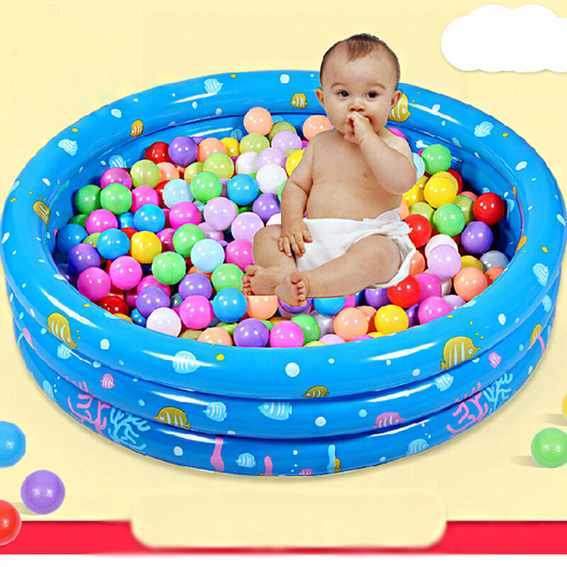100cm Inflatable Swim Pool Baby Kids Child Ball Pit Mesh