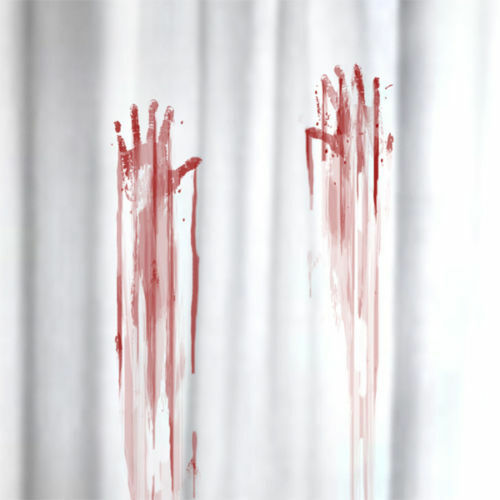 horror blood bloody handprint waterproof shower curtain. Black Bedroom Furniture Sets. Home Design Ideas