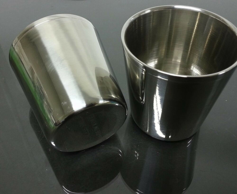2 Pcs Double Wall Layer Stainless Steel Cup Vacuum