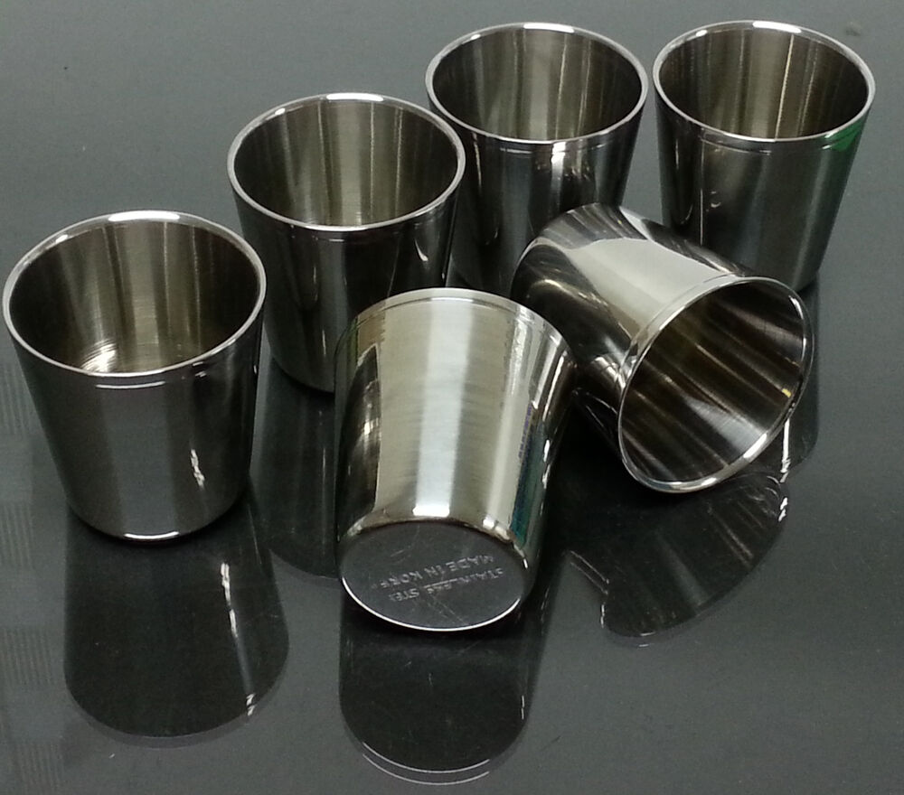 6pcs Double Wall Layer Stainless Steel Cup Vacuum