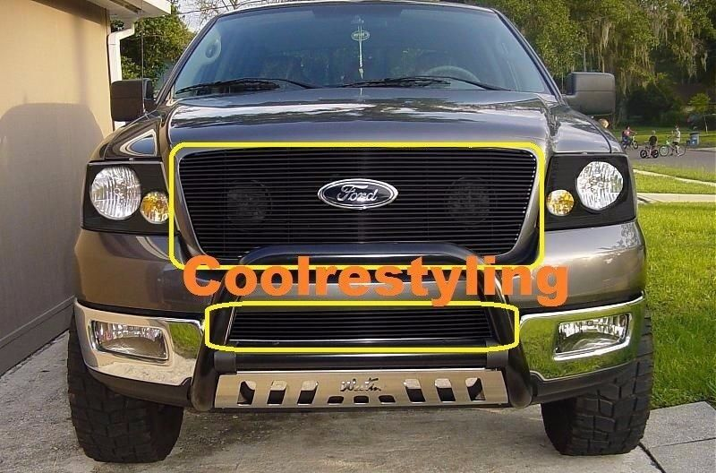 2006 Ford F150 Chrome Grill >> For 2006 2007 2008 Ford F150 Black Billet Grille Grill Replacement Inserts | eBay