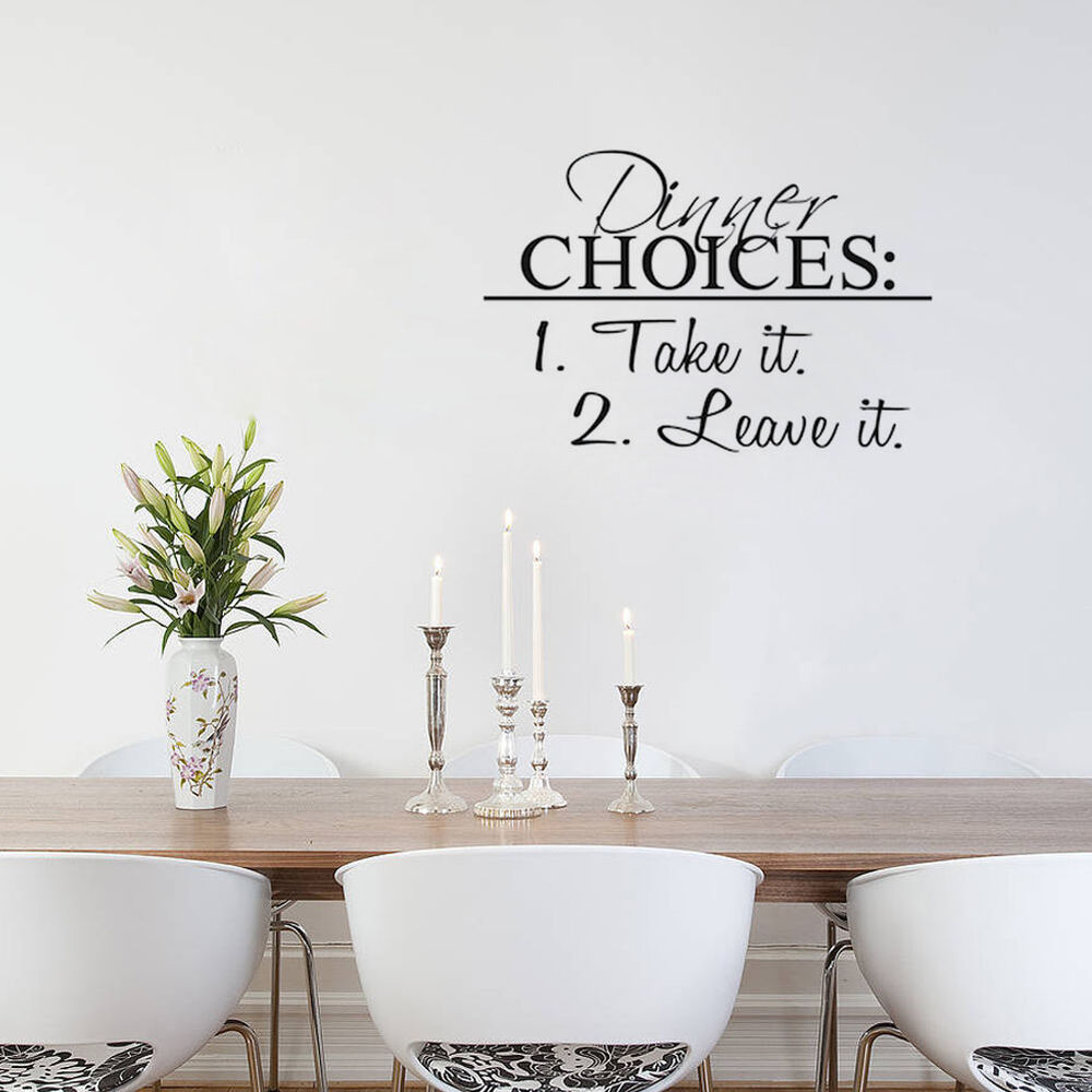 take it leave it wall sticker dining room decal wall art decor ebay