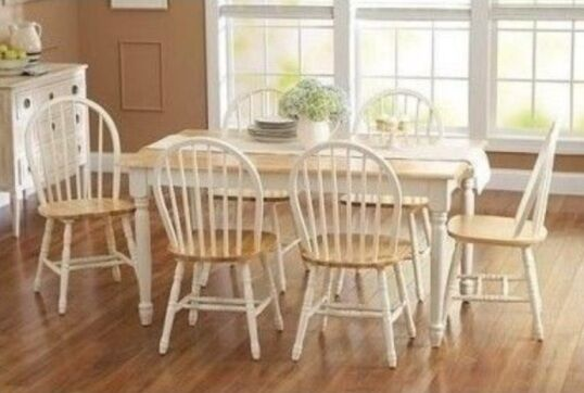 7 Pc Dining Set Dinette Sets 6 Chairs Table Kitchen Room