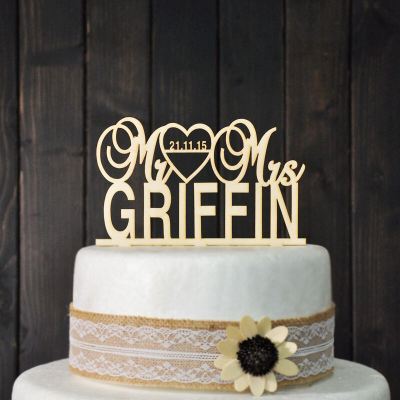 personalised wooden wedding cake toppers uk wooden wedding cake topper personalized with wedding 18259