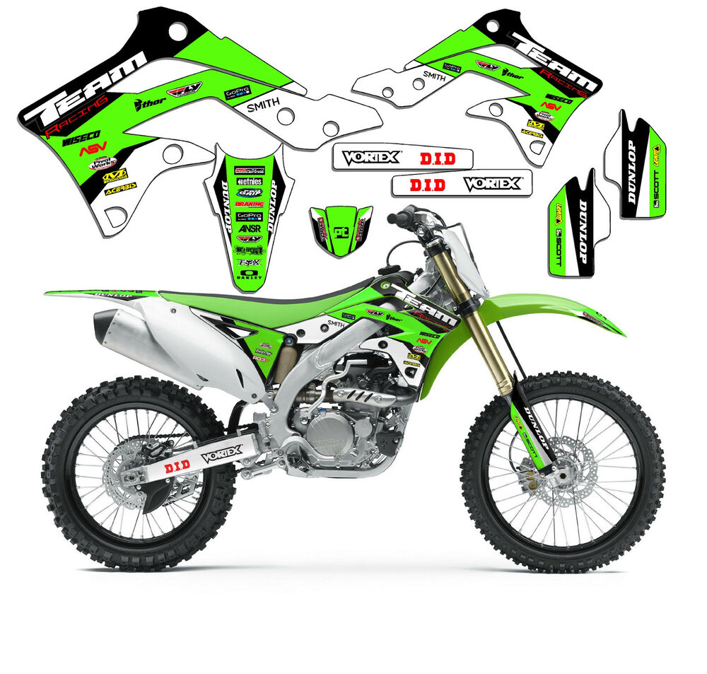 1990 1991 kawasaki kx 125 250 kx125 kx250 graphics kit decals deco mx stickers ebay