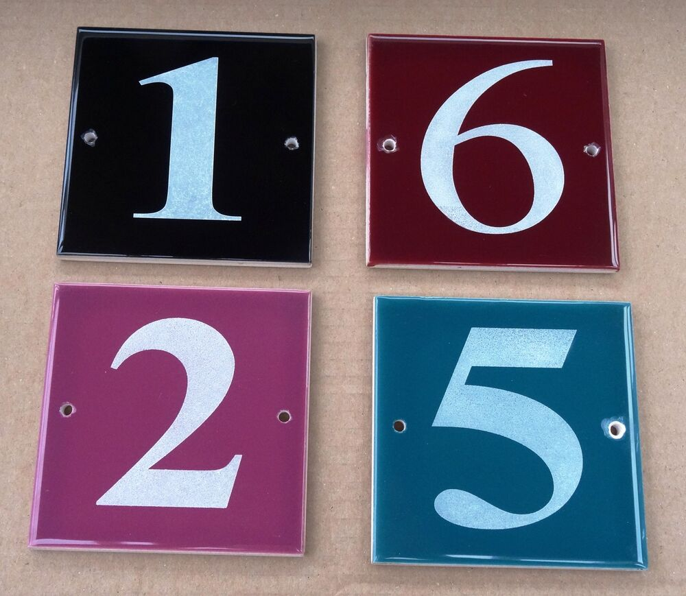 Engraved House Door Gate Number Sign Modern Plaque