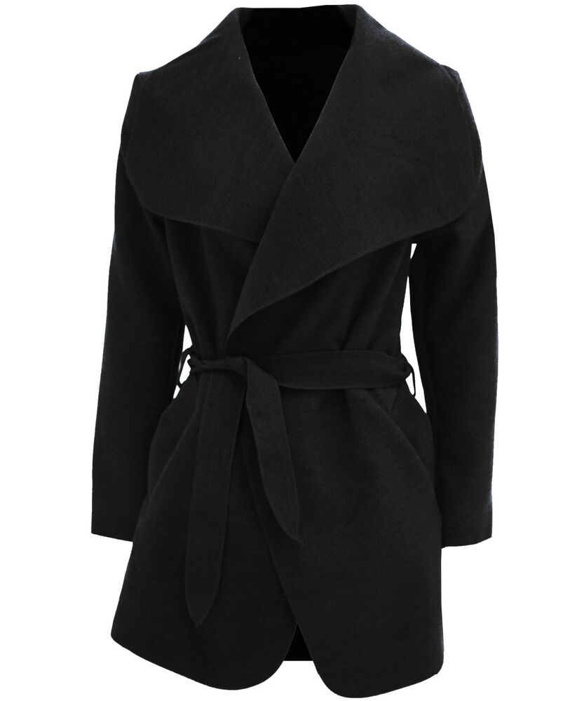 Edge to edge no button belted coat with oversized shawl collar and concealed welt pockets. Footwear only orders: $ anywhere in the U.S. Orders including clothing: $10 anywhere in the U.S. Free Standard Ground Shipping on orders with $30 of clothing. Dispatched within 24 hours, delivered within.