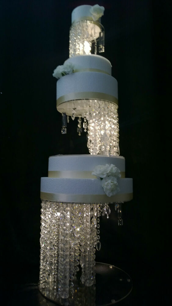 crystal wedding cake stand illusion design wedding cake stands ebay 3209