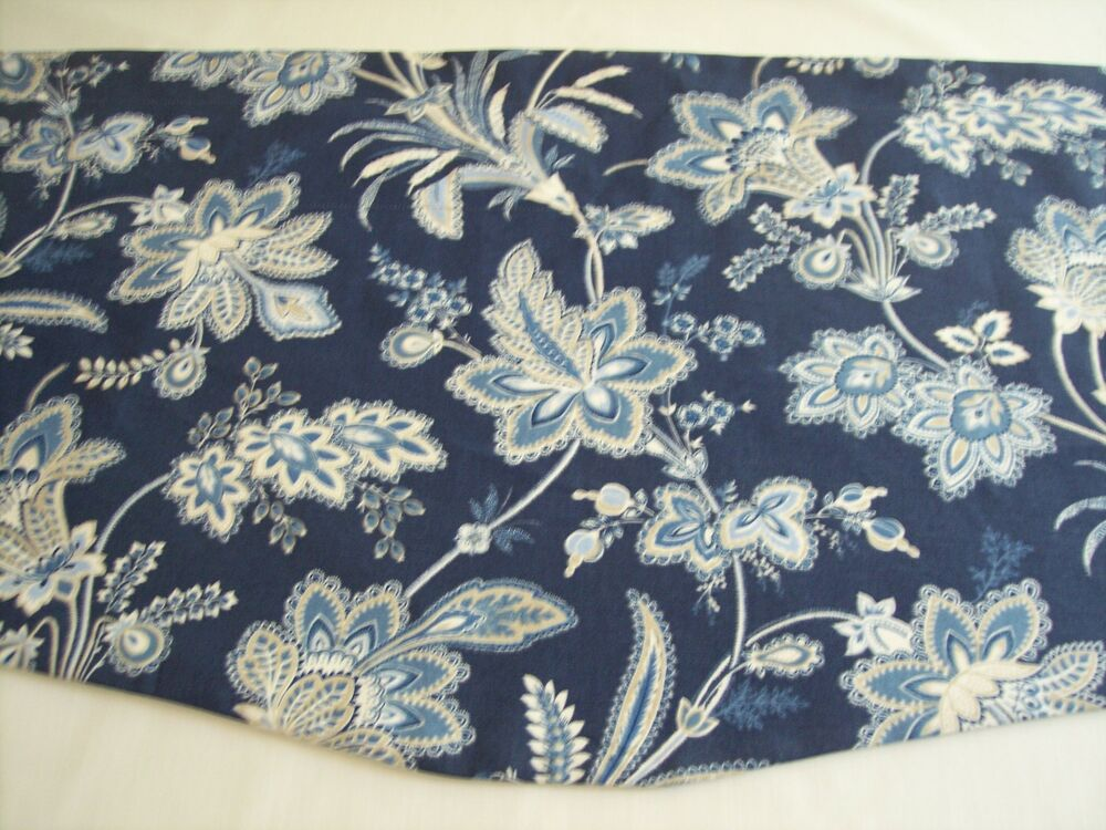 Waverly Pkl Studio Barano Indigo Blue Floral Scalloped