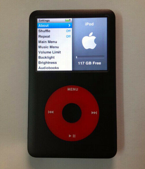 iPod classic 7th Generation U2 Special Edition 128GB SSD ...