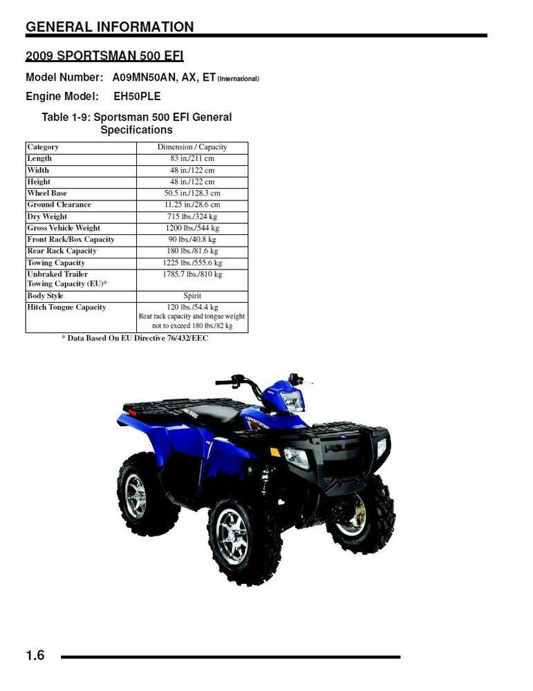 polaris 2009 atv sportsman 500 ho efi x2 touring service. Black Bedroom Furniture Sets. Home Design Ideas