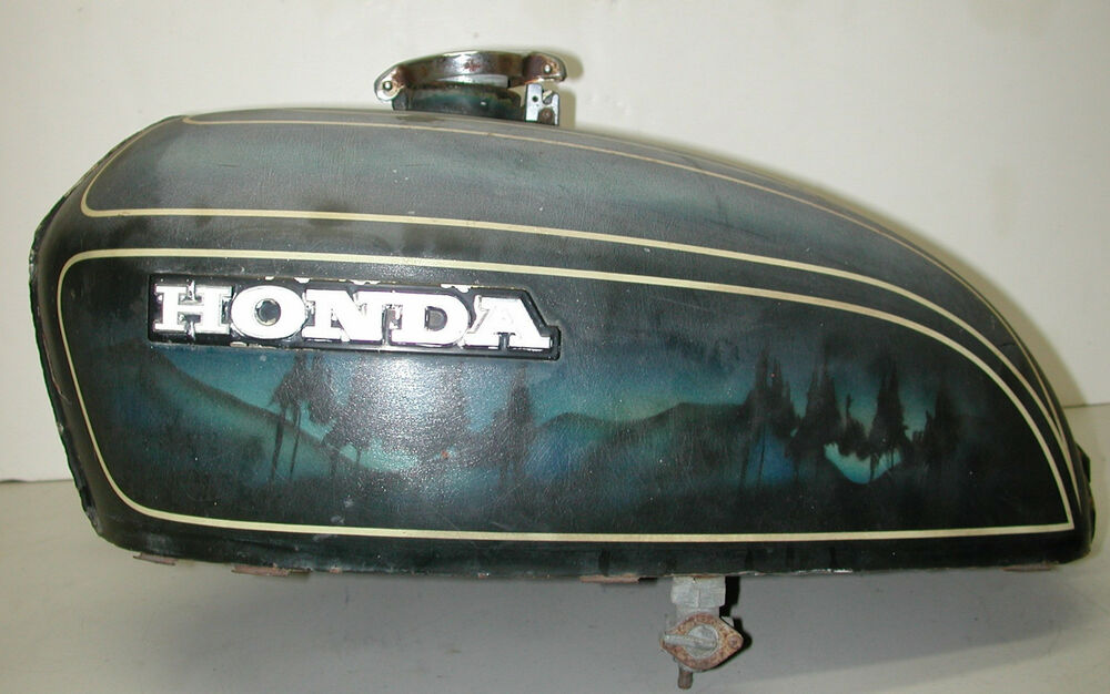 Vintage motorcycle fuel tanks
