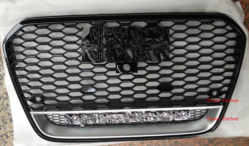 Rs6 Oe Style Grille For Audi A6 C7 S6 Black Frame With