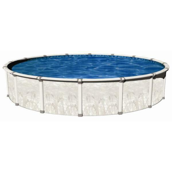 24 39 x52 round sharkline venture 40 year warranty above ground swimming pool ebay for Round swimming pools above ground