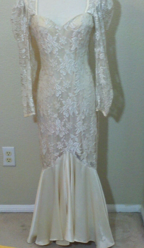 80s vintage wedding dress by bb collections ebay for Ebay vintage wedding dress
