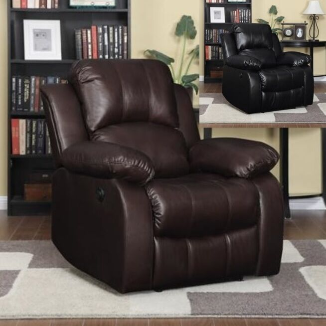 large leather electric power recliner arm chairs recliners lazy