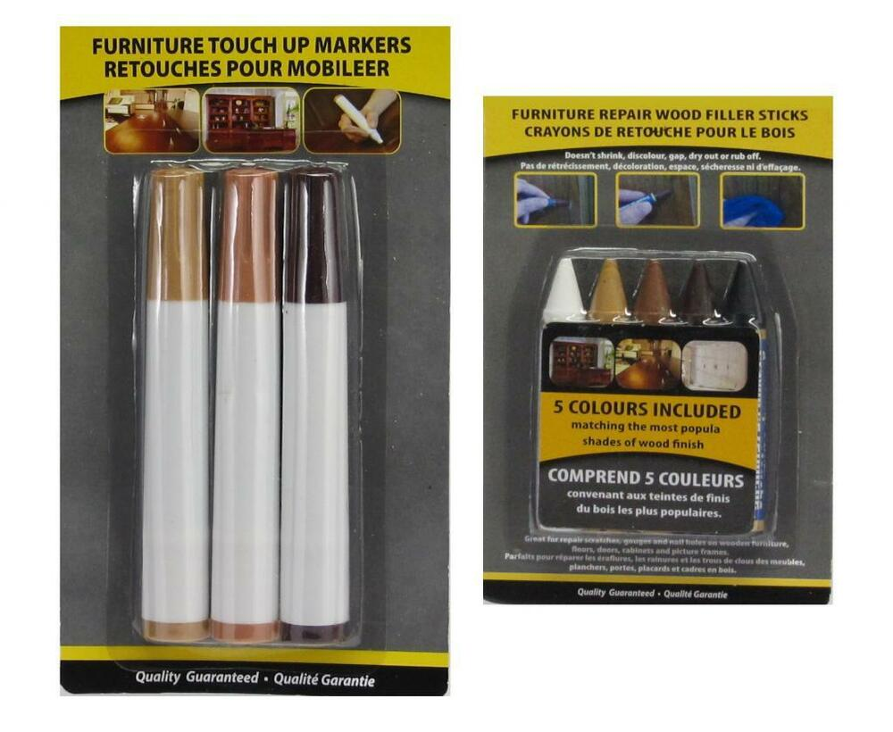 8pc Wood Furniture Touch Up Kit Marker Pen Wax Scratch