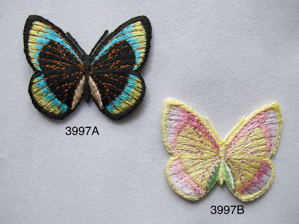 Black blue yellow green pink butterfly
