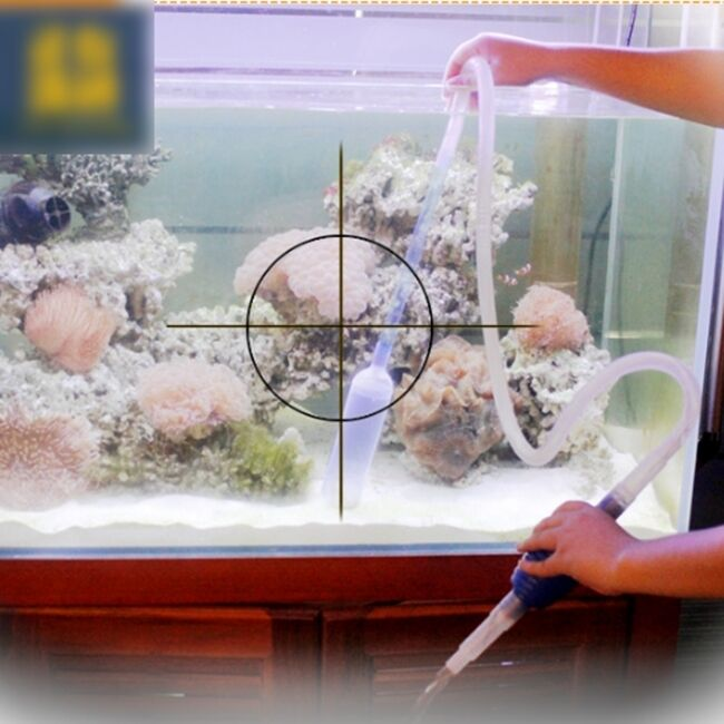 Aquarium cleaning vacuum water change gravel cleaner fish for How to clean fish tank rocks
