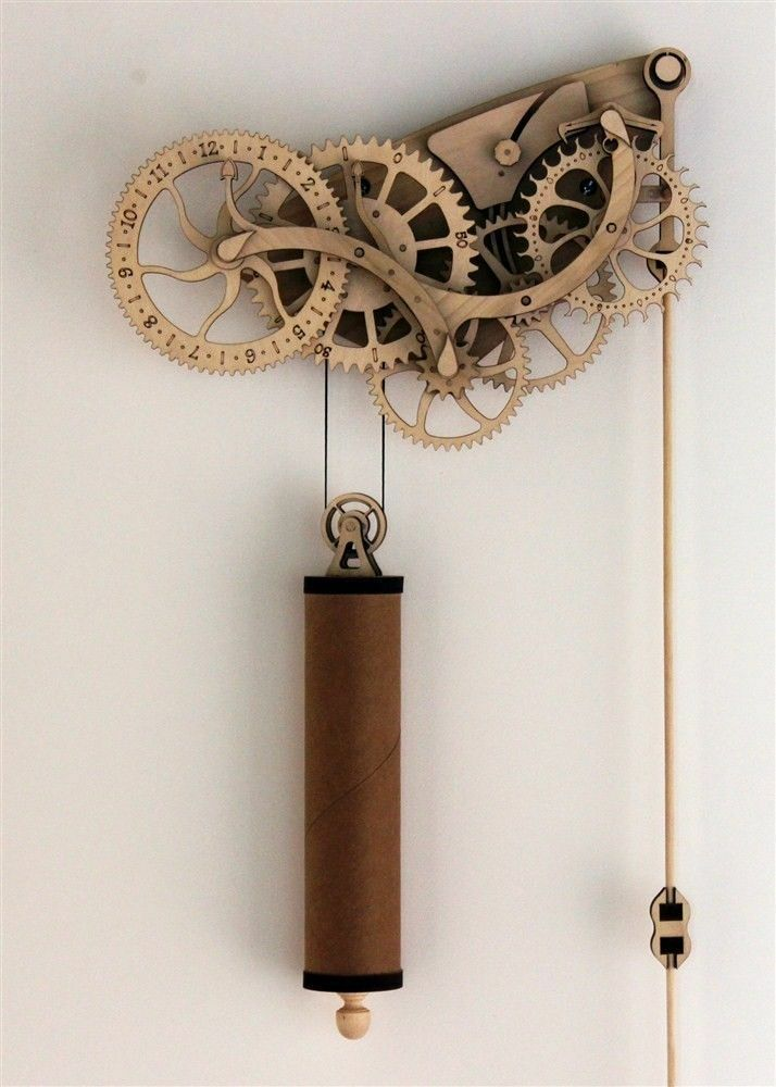 Abong Diy Laser Cut Wooden Wheeled Mechanical Pendulum