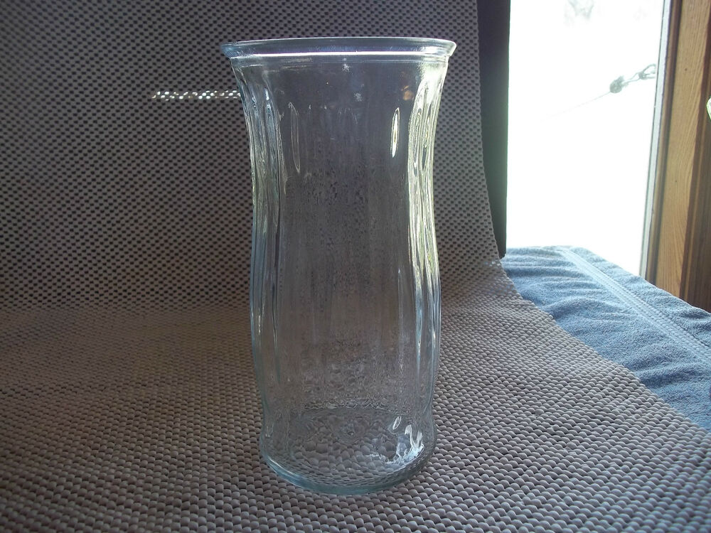 "Clear Glass Vase 9-1/2"" tall 