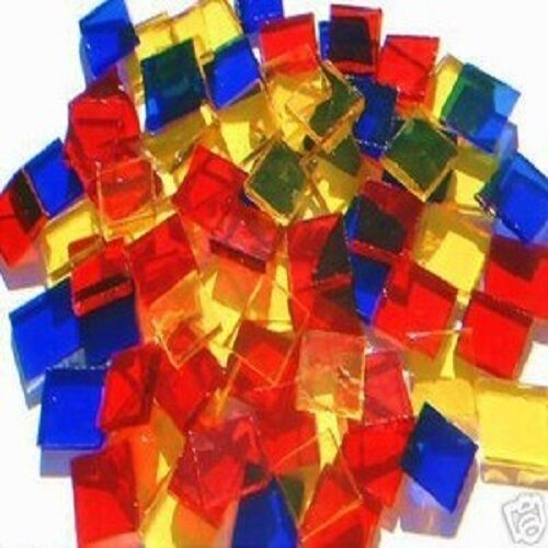 100 party colors mosaic tile stained glass tile art craft for Mosaic tiles for craft