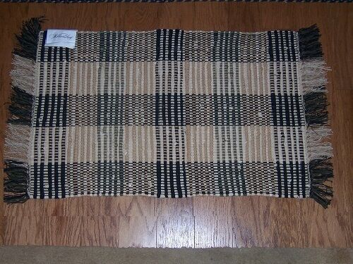 Williamsburg Booker Plaid Black Amp Tan Rag Rug 2 X 3