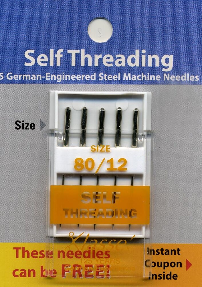 self threading sewing machine needles
