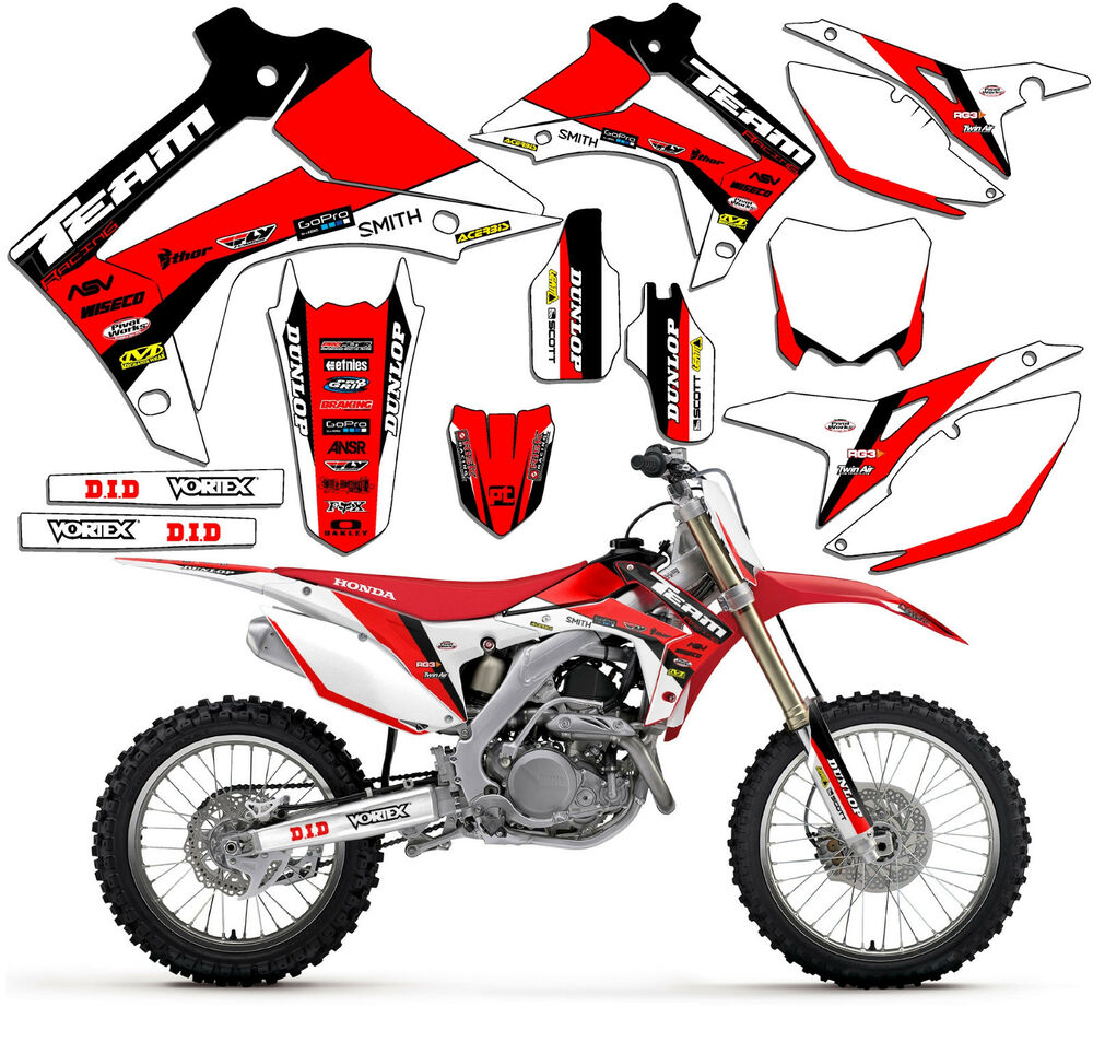 2006 Honda Crf450r: 2005-2007 HONDA CRF 450R GRAPHICS KIT DECALS DECO STICKERS