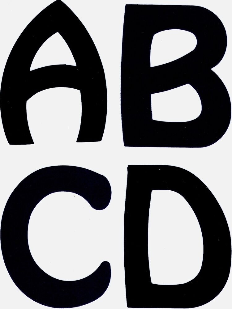 5 inch uppercase die cut alphabet letters for posters for 2 inch letter board letters