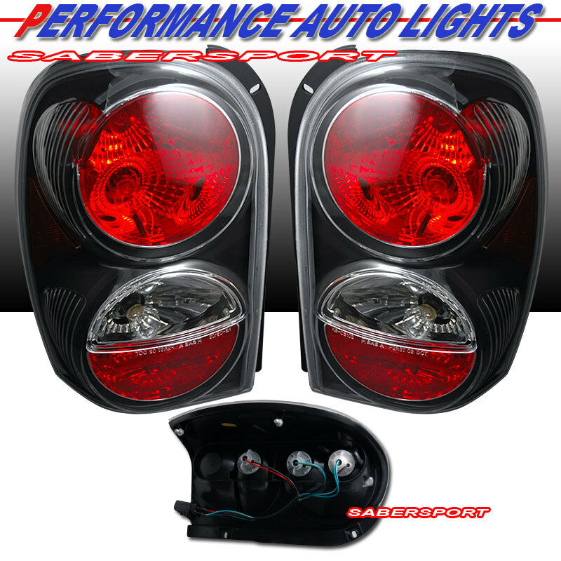 02 07 Jeep Liberty Black Altezza Style Tail Lights Pair