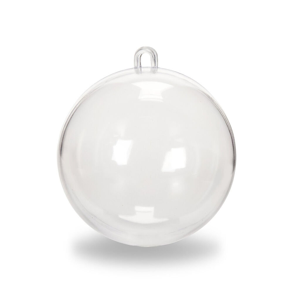 Clear plastic fillable ball cicle hang ornaments favor for Clear christmas bulbs for crafting