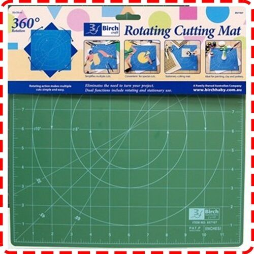 Birch 45x45cm Rotating Cutting Mat Self Healing Quilting