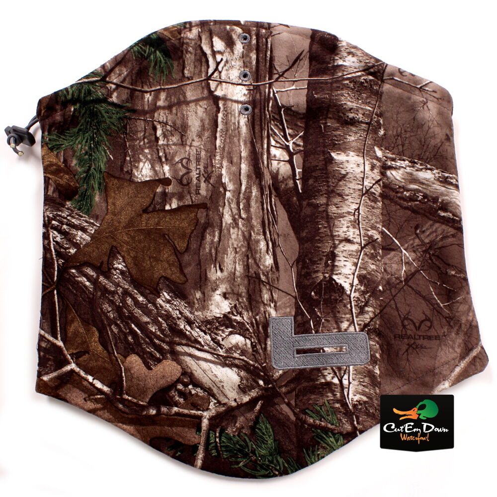 New banded gear ufs fleece neck gaiter b logo realtree for Realtree camo flannel shirt