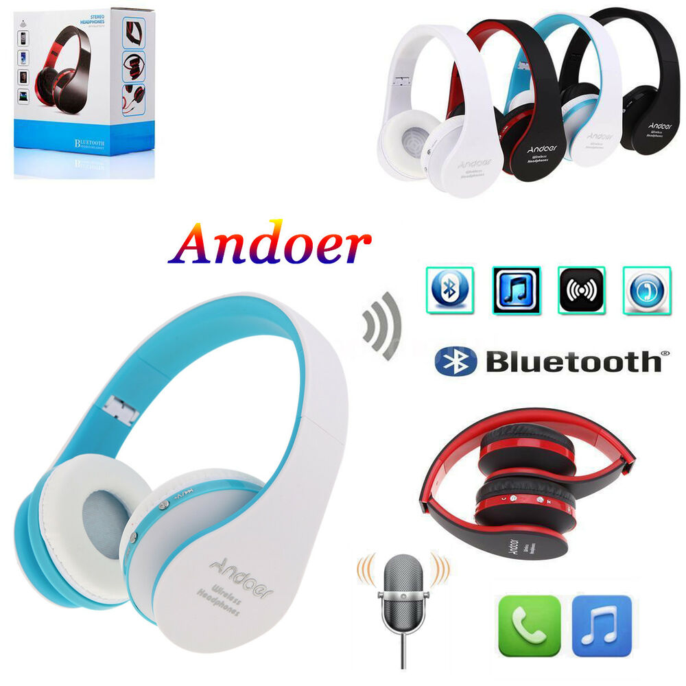 foldable wireless stereo bluetooth headphone earphone headset for iphone samsung ebay. Black Bedroom Furniture Sets. Home Design Ideas