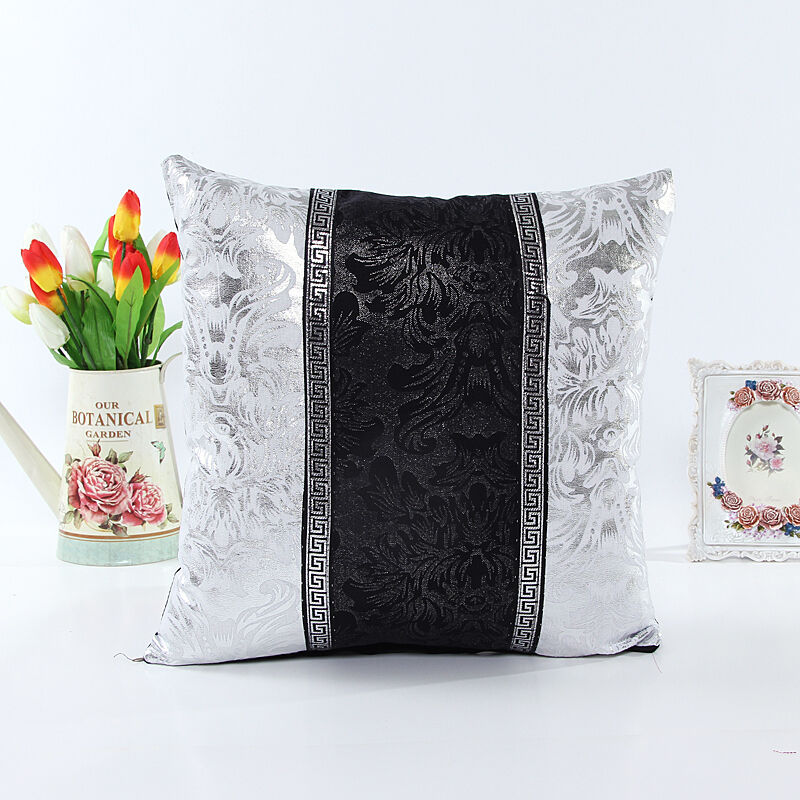 Throw Pillows For White Sofa : New Thick Black White Splice Throw Pillow Case Cushion Cover Sofa Home Decor 18