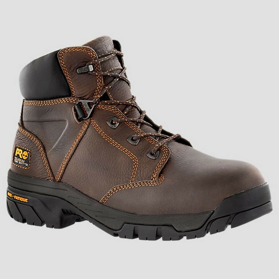 mens timberland pro helix 6 quot alloy safety toe brown work