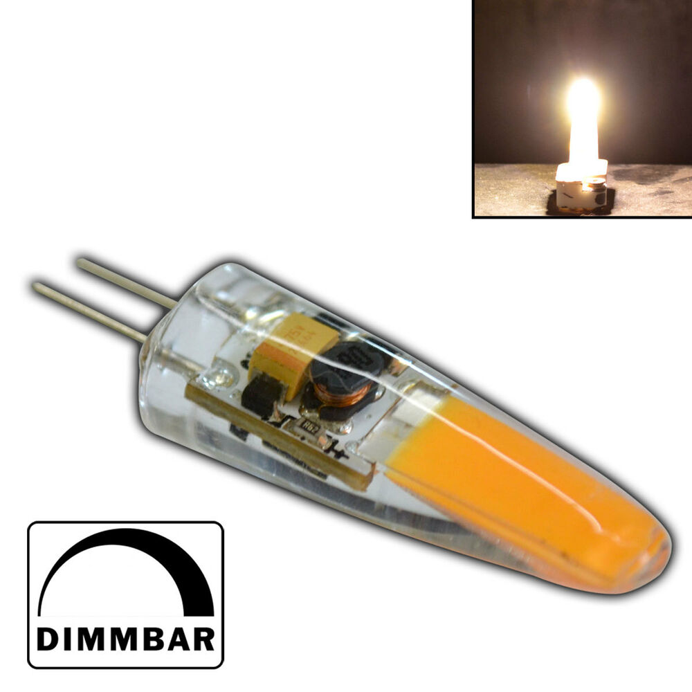 g4 cob led 2 watt 12v ac dc warmwei a leuchtmittel lampe birne dimmbar ebay. Black Bedroom Furniture Sets. Home Design Ideas