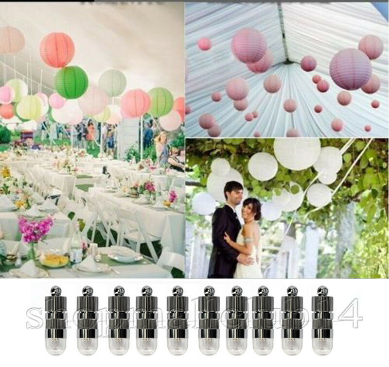 pink 10 papierlaterne 10 led lampions lampen lampion f r party deko hochzeit ros ebay. Black Bedroom Furniture Sets. Home Design Ideas