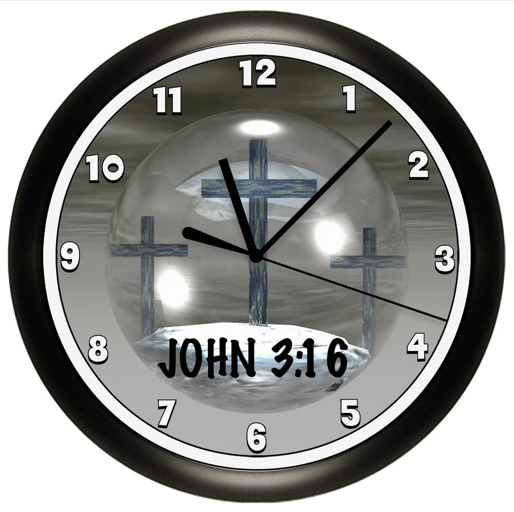 SCRIPTURE WALL CLOCK PERSONALIZED GIFT WALL DECOR CROSS ...