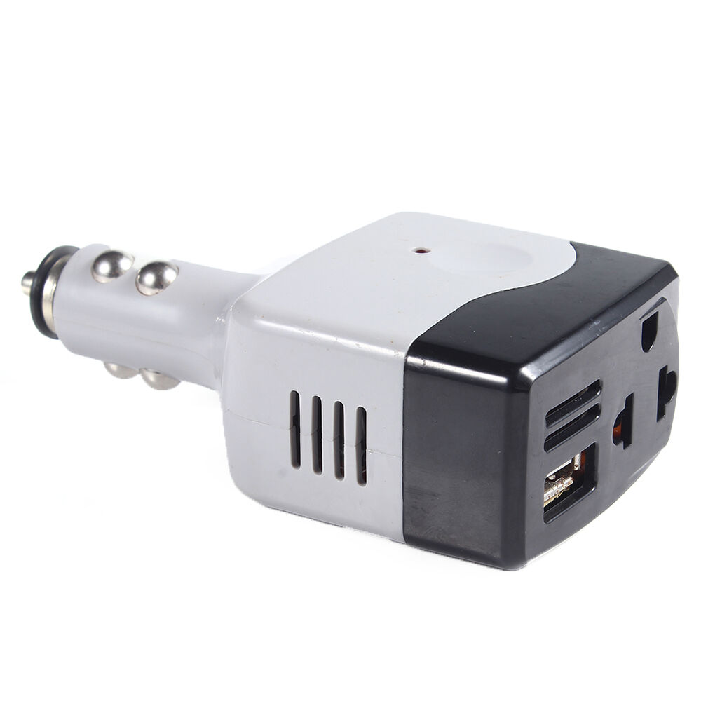 new car usb converter plug dc12v to ac 220v charger power. Black Bedroom Furniture Sets. Home Design Ideas