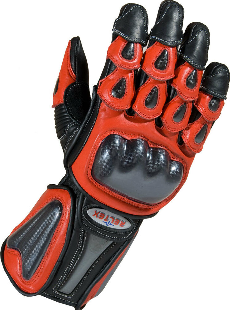 Red Leather Motorbike Motorcycle Gloves For Ducati Yamaha
