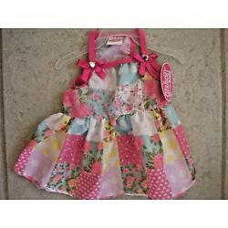 GLAMOUR TO THE BONE  PASTEL PATCHWORK  Party  DRESS Puppy/Dog small